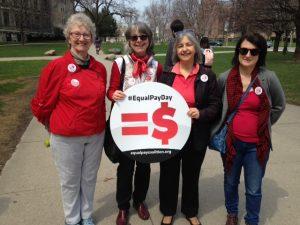Leaside - East York Members at the rally
